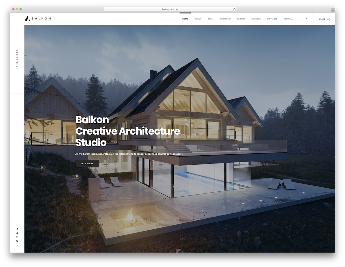 balkon parallax website template