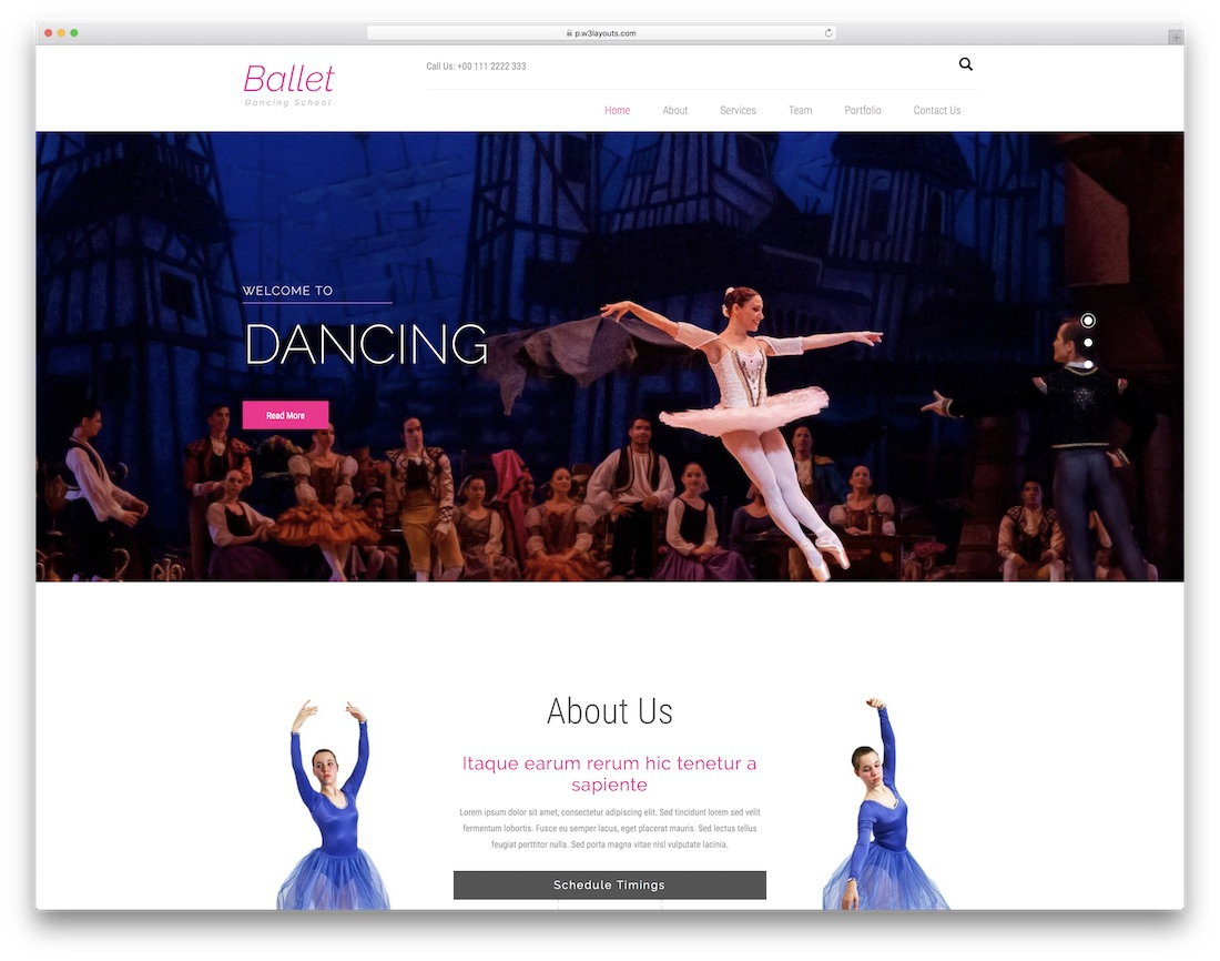ballet bootstrap free event website template