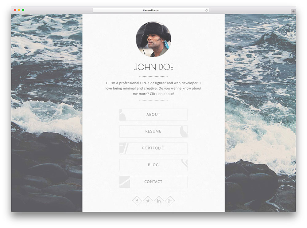 balloon - minimal white vcard theme