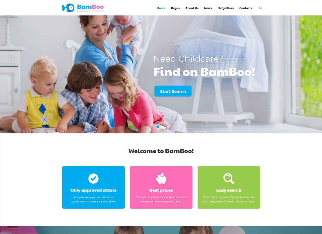 BamBoo | Child Care & Babysitting WordPress Theme
