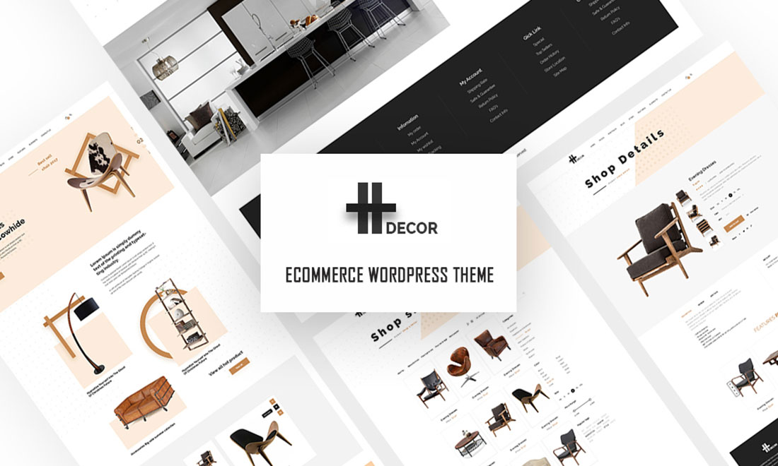 H Decor – Creative Furniture WordPress Theme