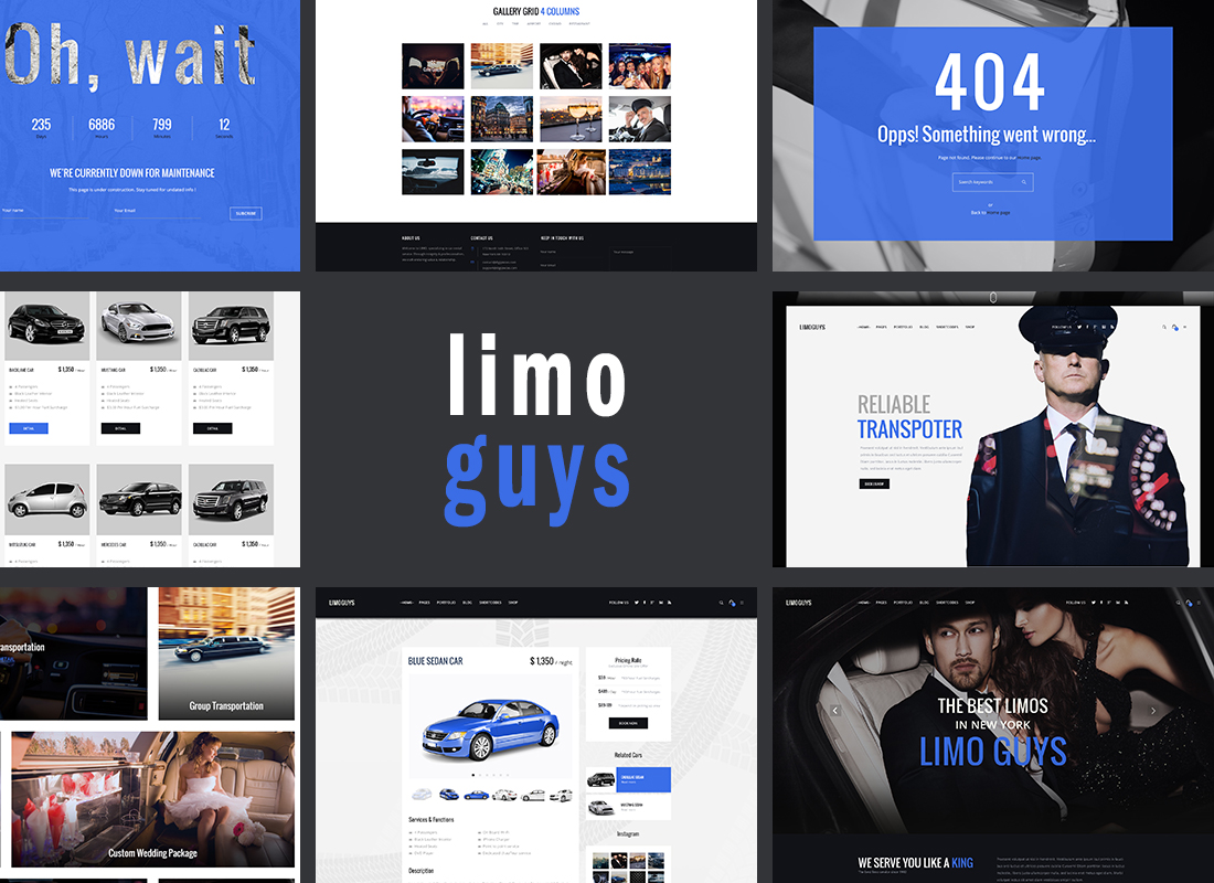 LIMOGUYS – Creative WordPress Theme For Car Rental & Limo Services