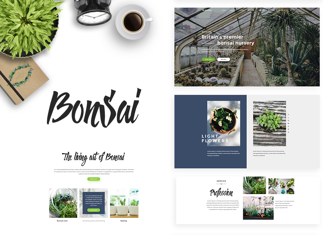 Bonsai – Landscaping & Gardening WordPress Theme