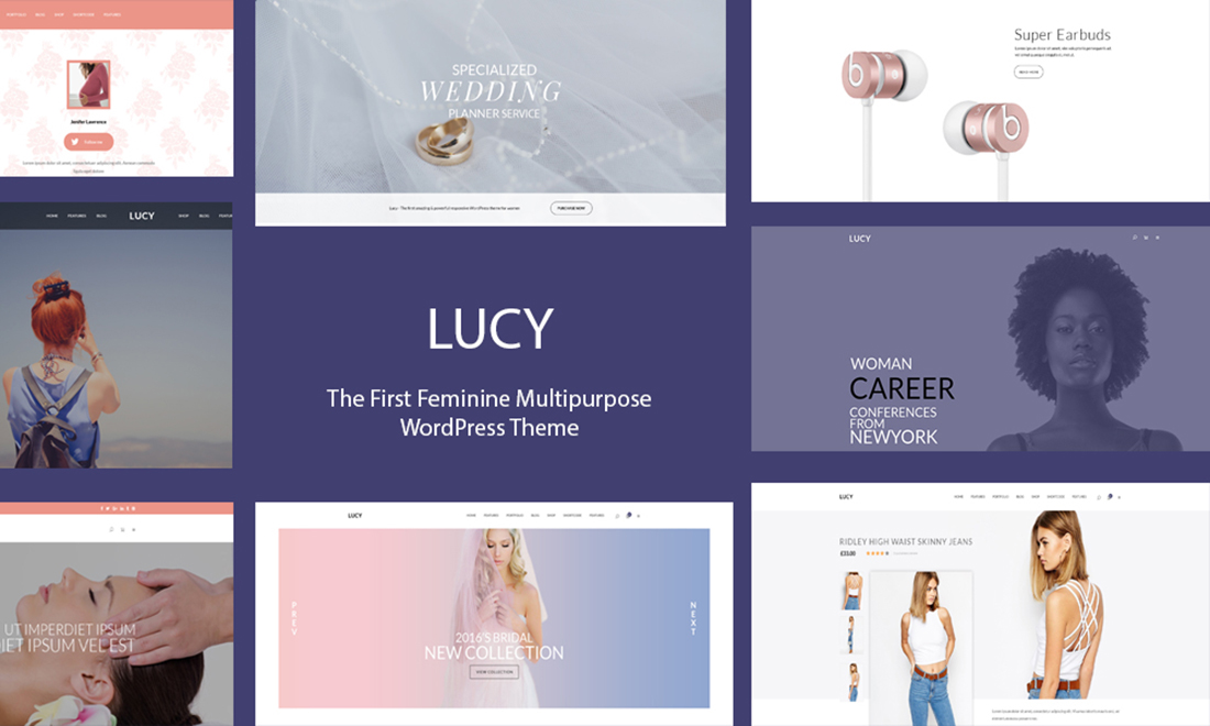 Lucy – Elegant Multipurpose Feminine WordPress Theme