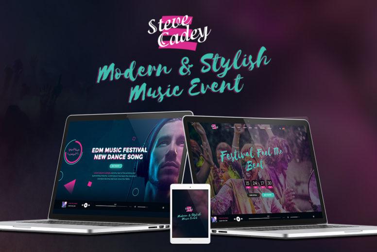 STEVE CADEY – Modern WordPress Theme For Musicians, DJs, Bands & Solo Artists