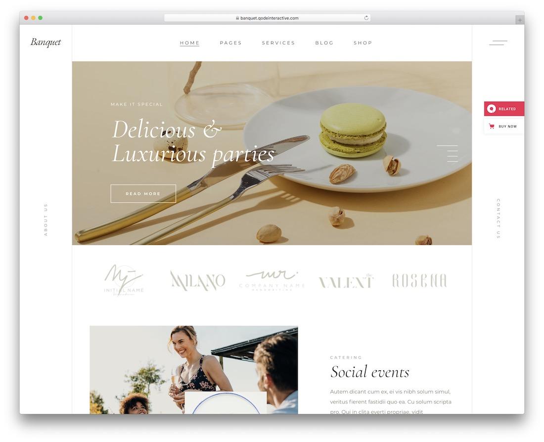 banquet catering website template