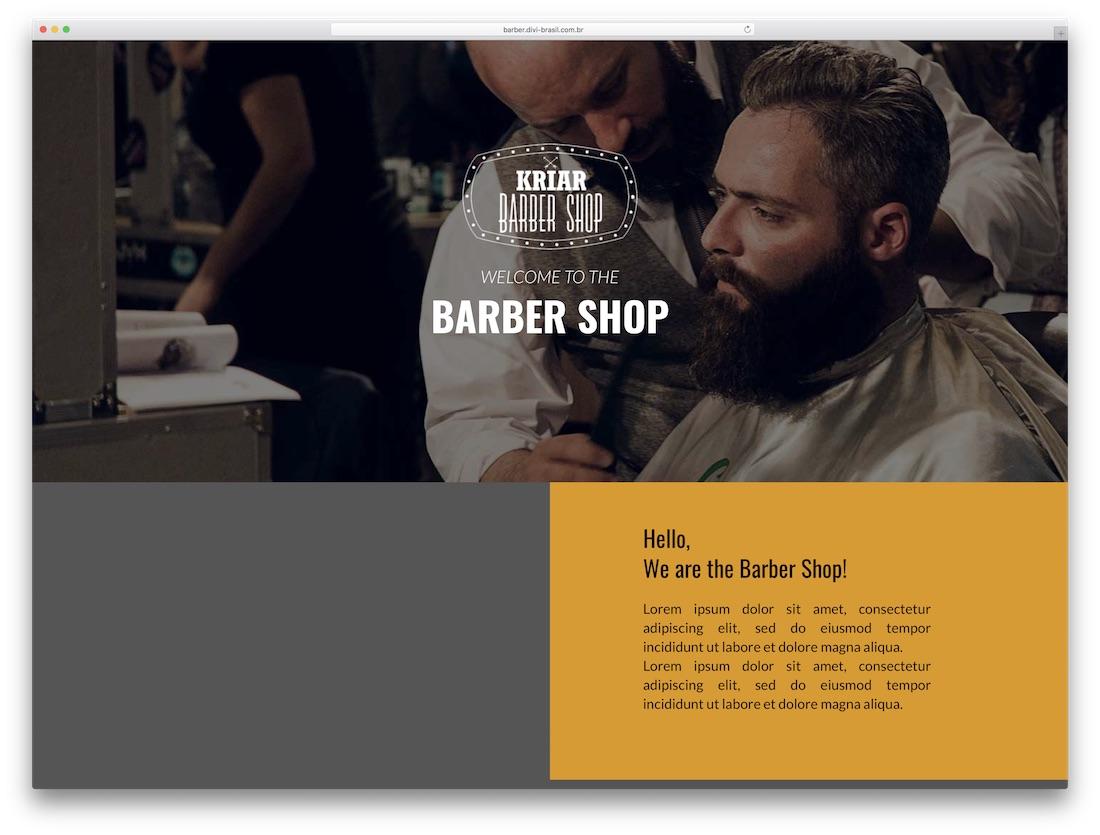 barber divi child theme