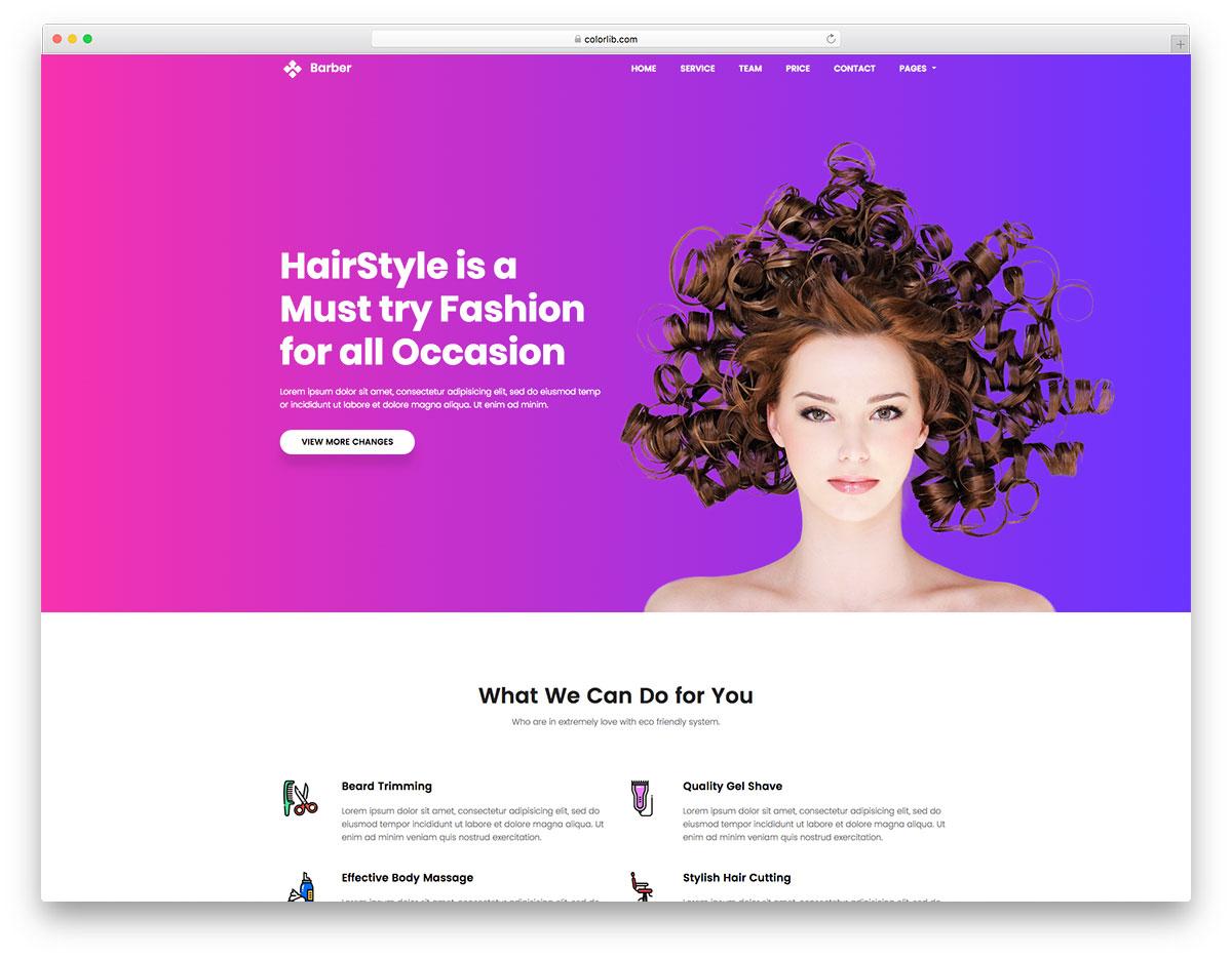 Скачать бесплатно html шаблон Barber
