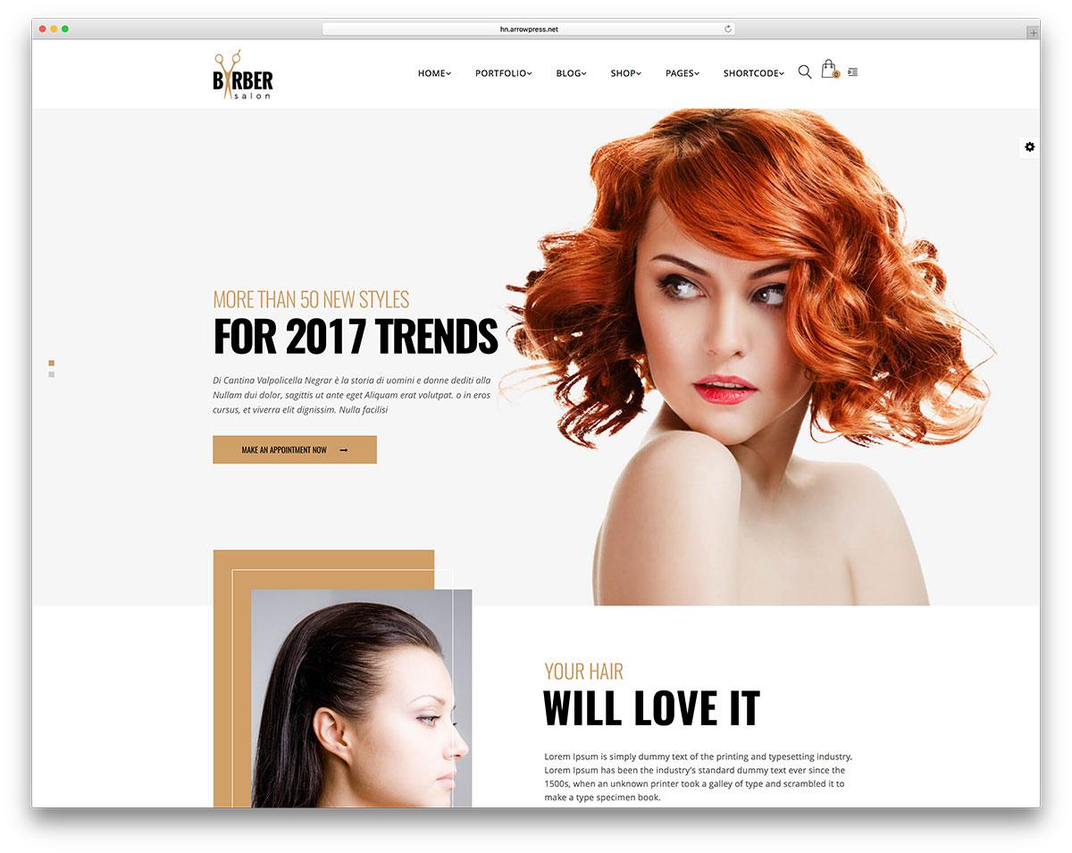 28 Hair Salon and Barber Shop WordPress Themes 2019 - Colorlib