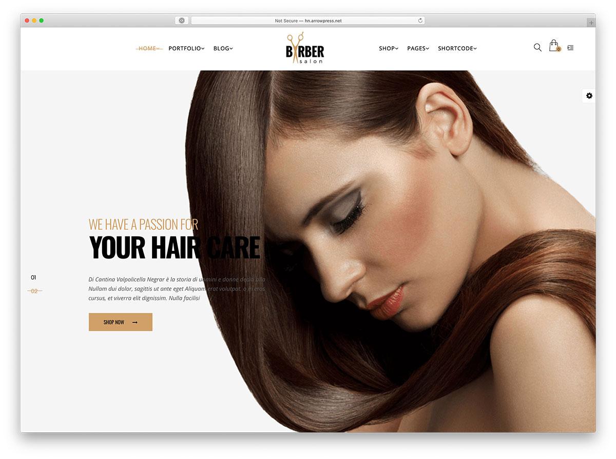barber wordpress theme