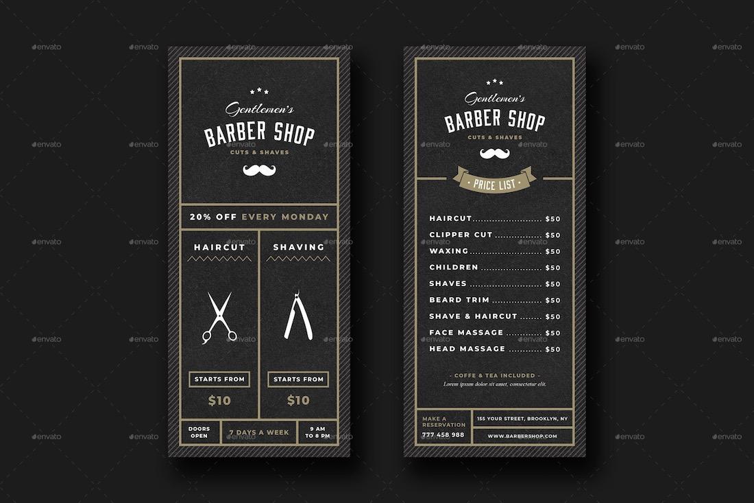 barbershop rack card