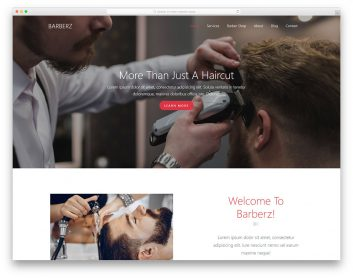 Barberz Free Template