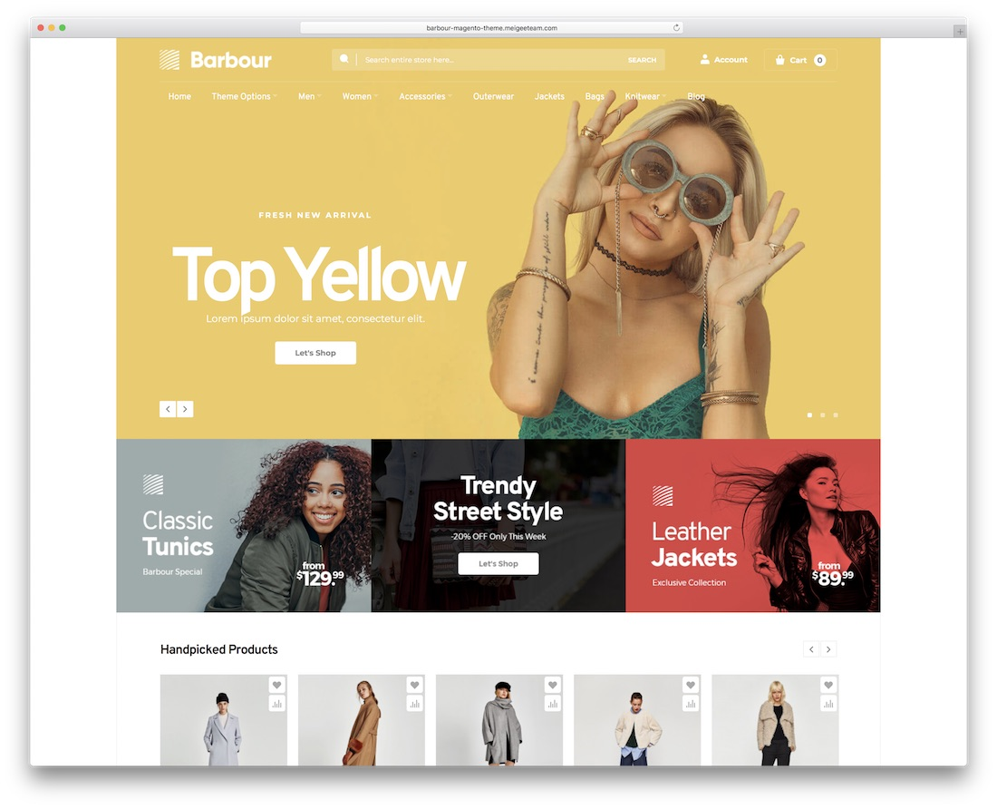 barbour magento theme