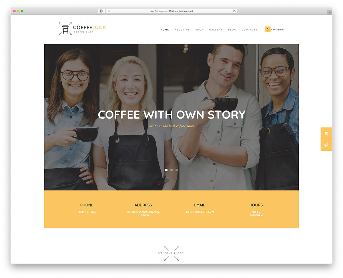 barista WordPress theme