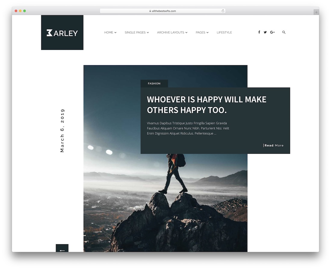 barley writer website template