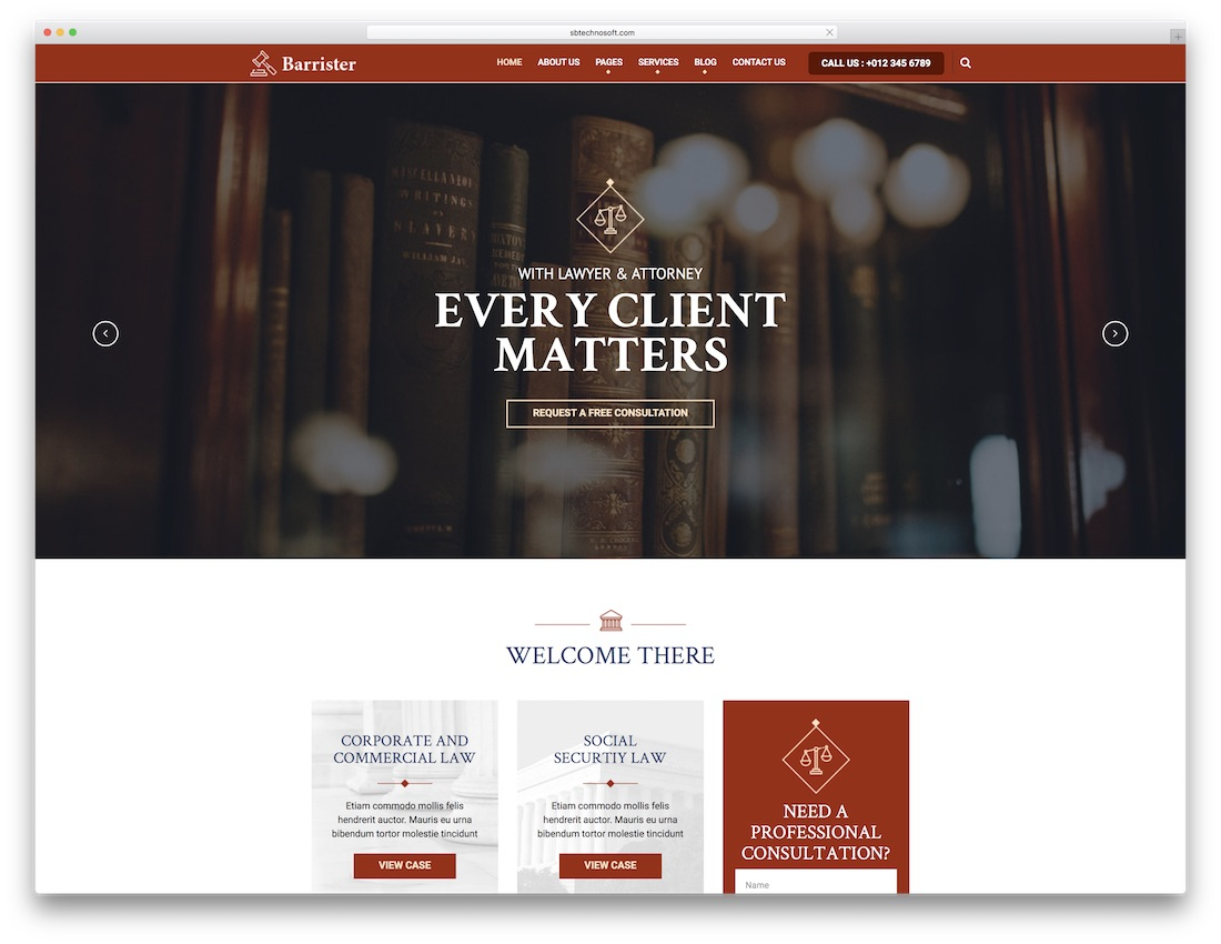 barrister lawyer website template