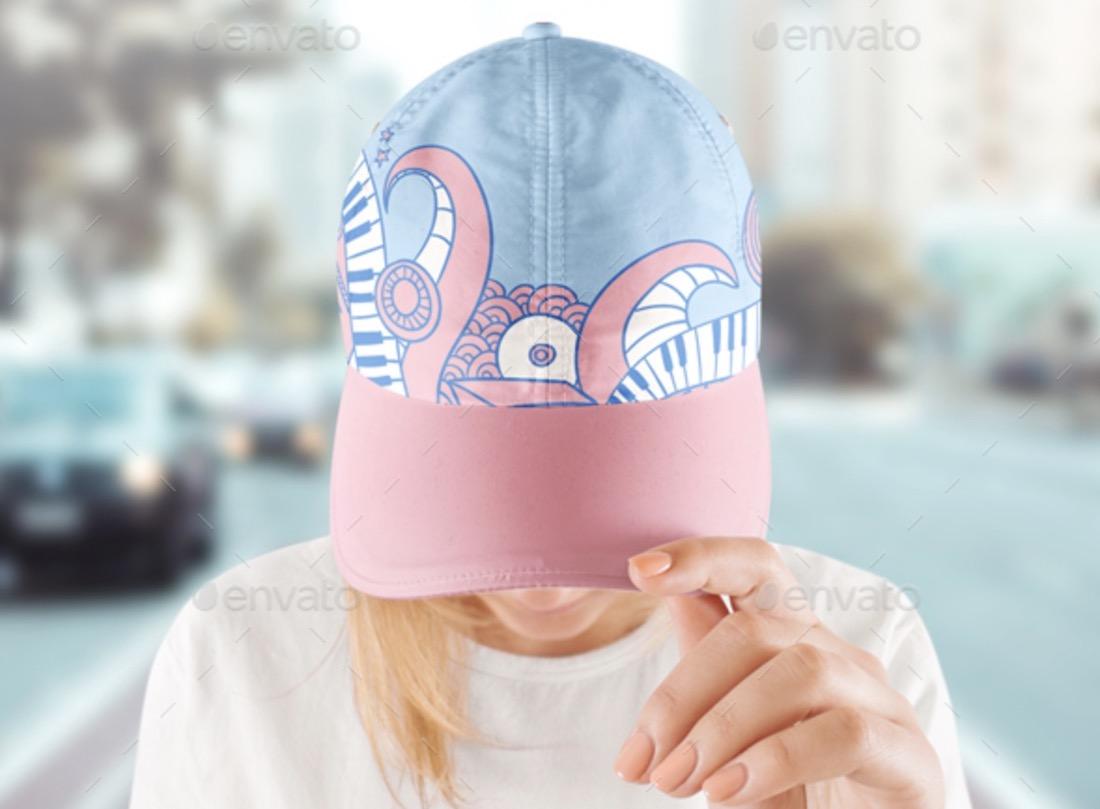 baseball cap mockup template