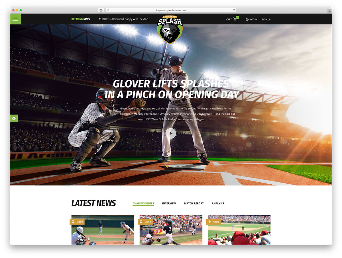 15 Best Baseball WordPress Themes For Baseball Sports Club And Enthusiasts 2020
