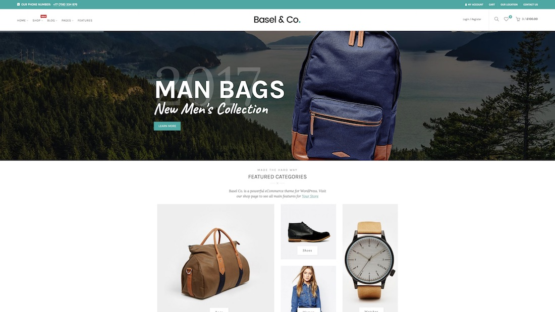 basel ecommerce website template