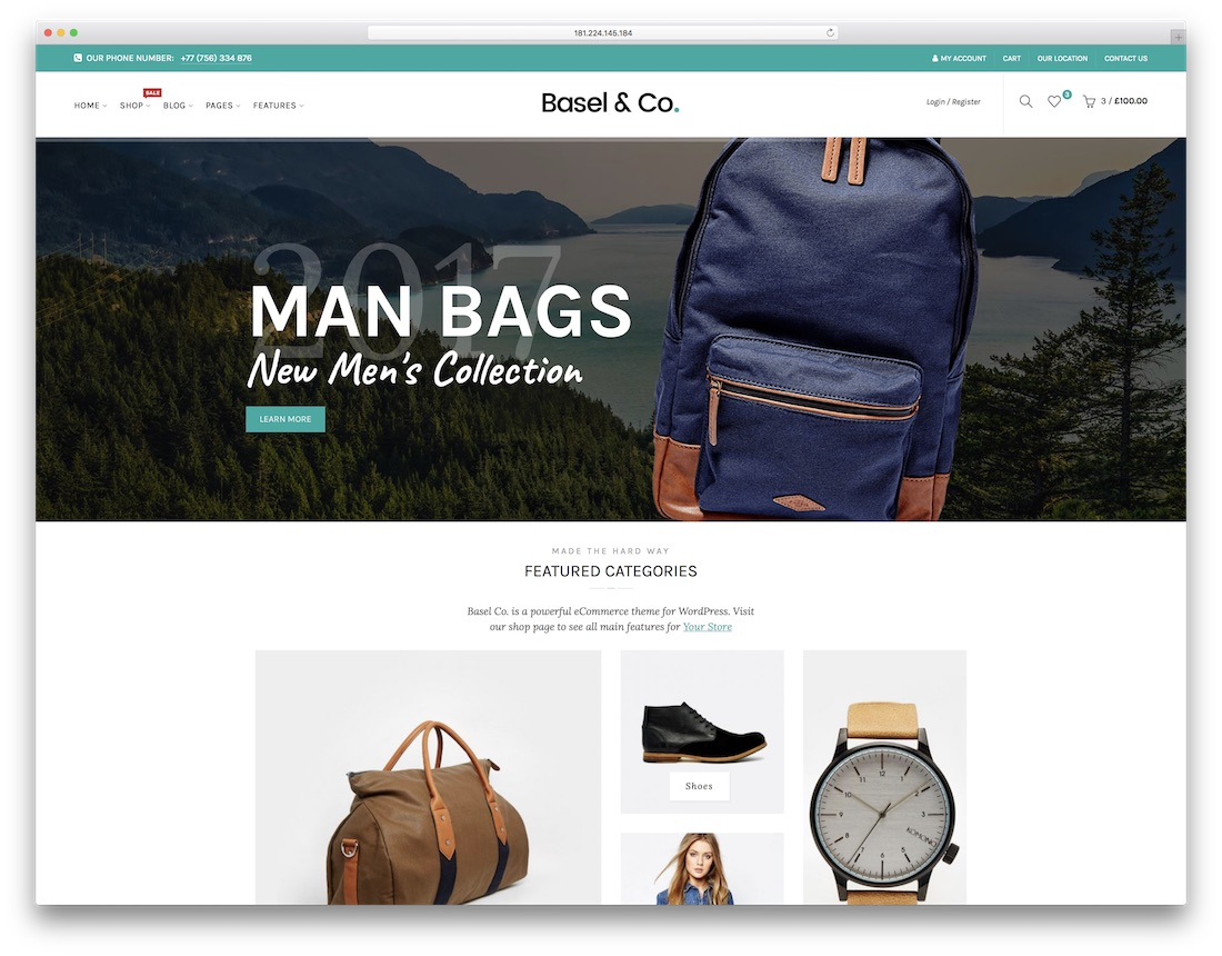 basel fashion website template