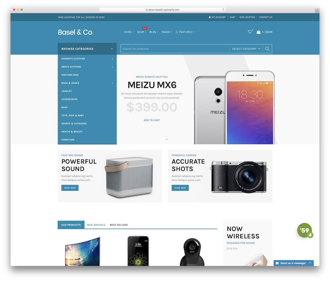 basel shopify technology theme