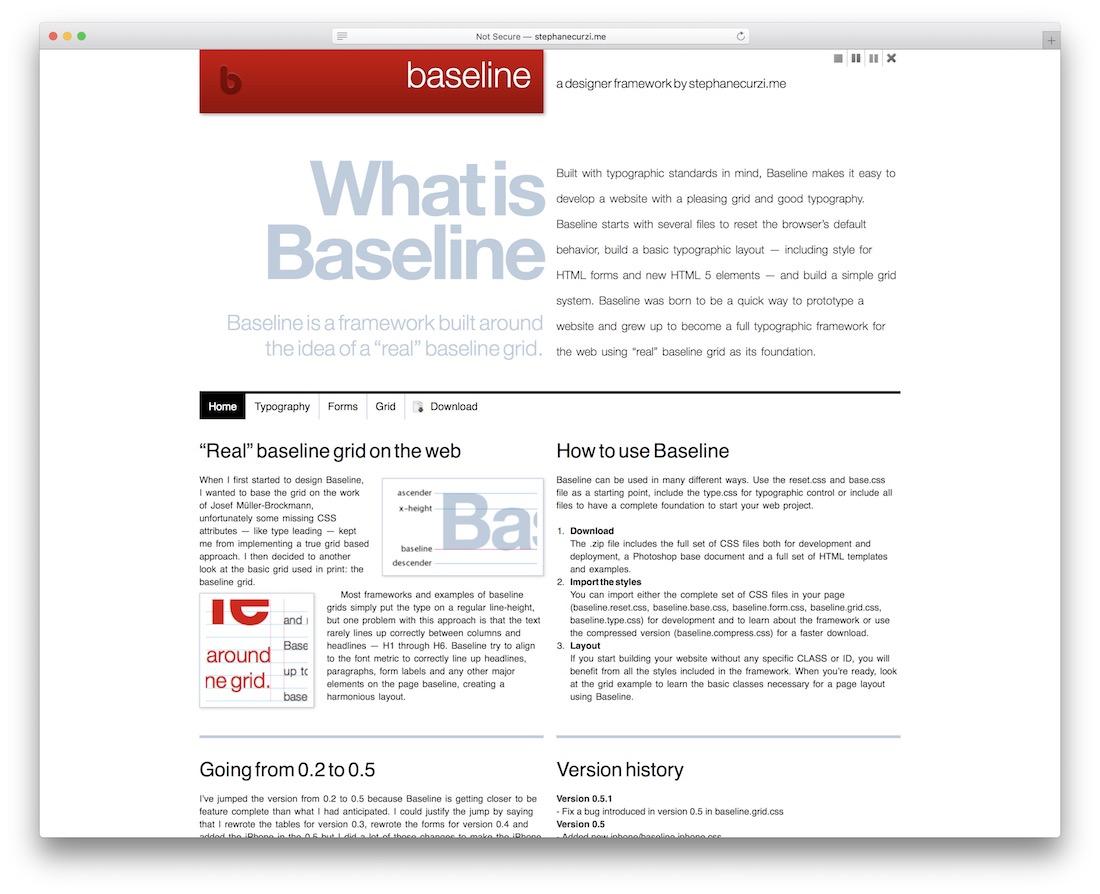 baseline free typography resource