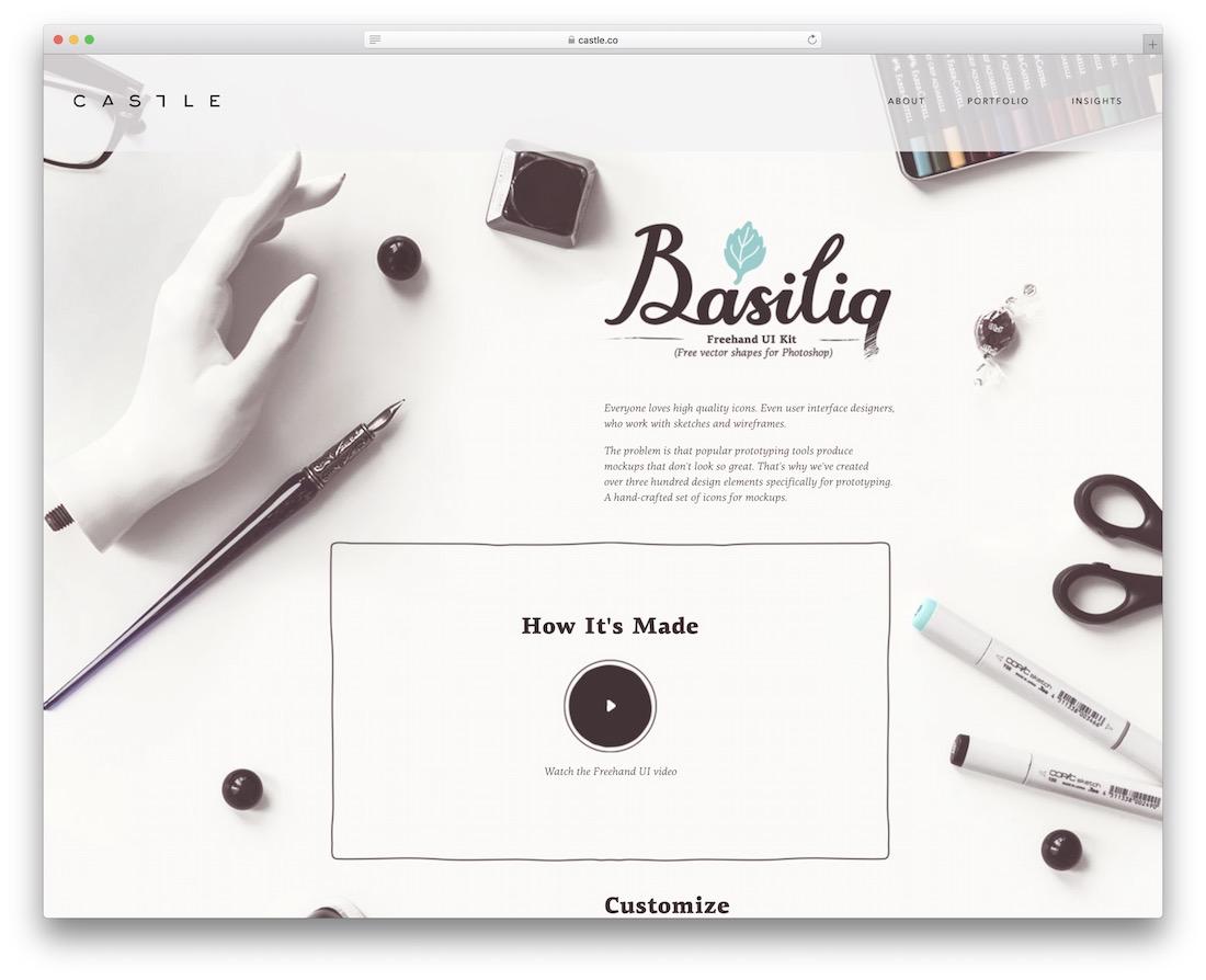 basiliq by castle freehand ui kit