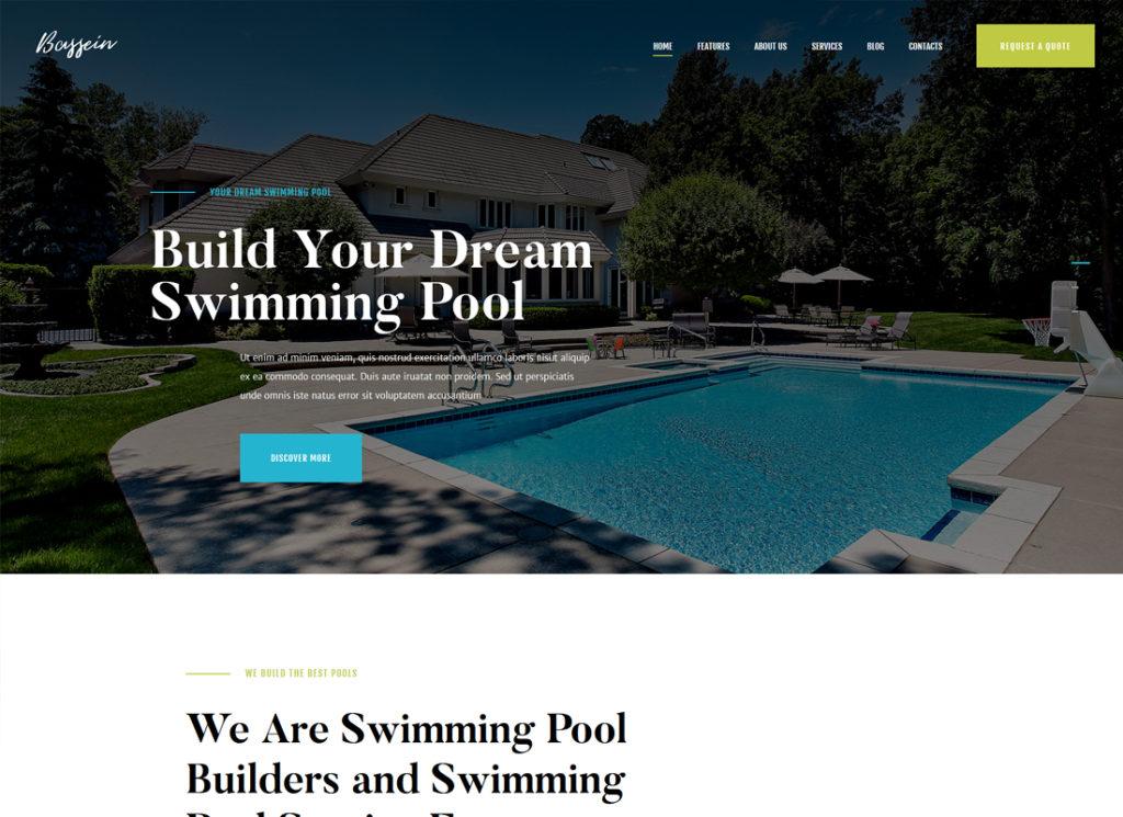 Bassein   Swimming Pool Cleaning & Maintenance Service WordPress Theme