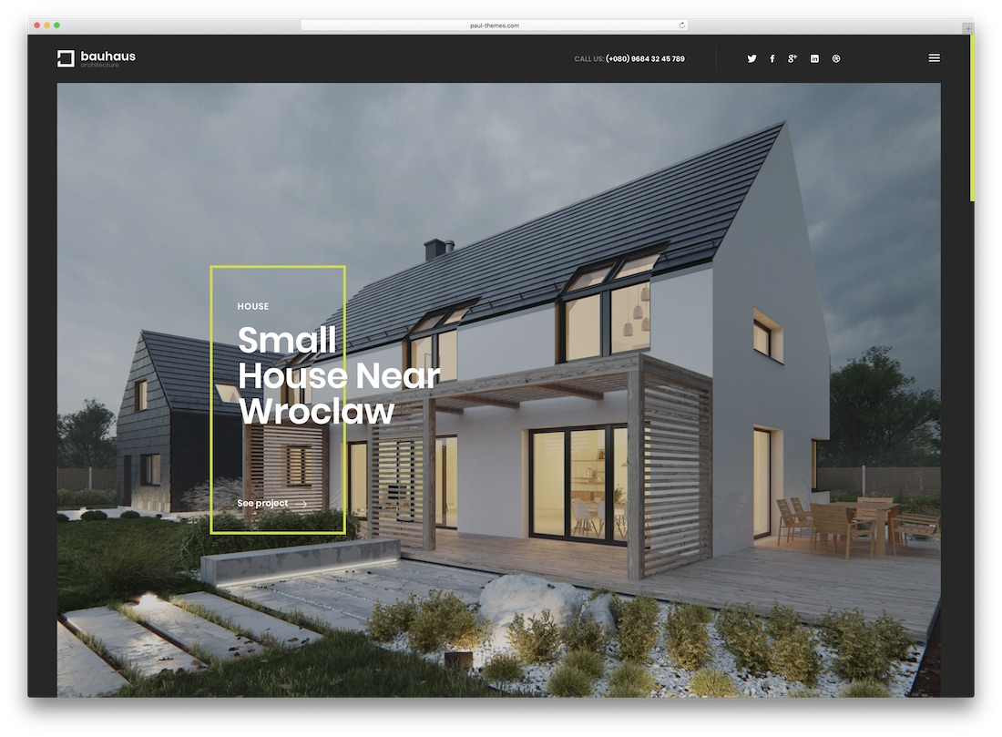 bauhaus real estate website template