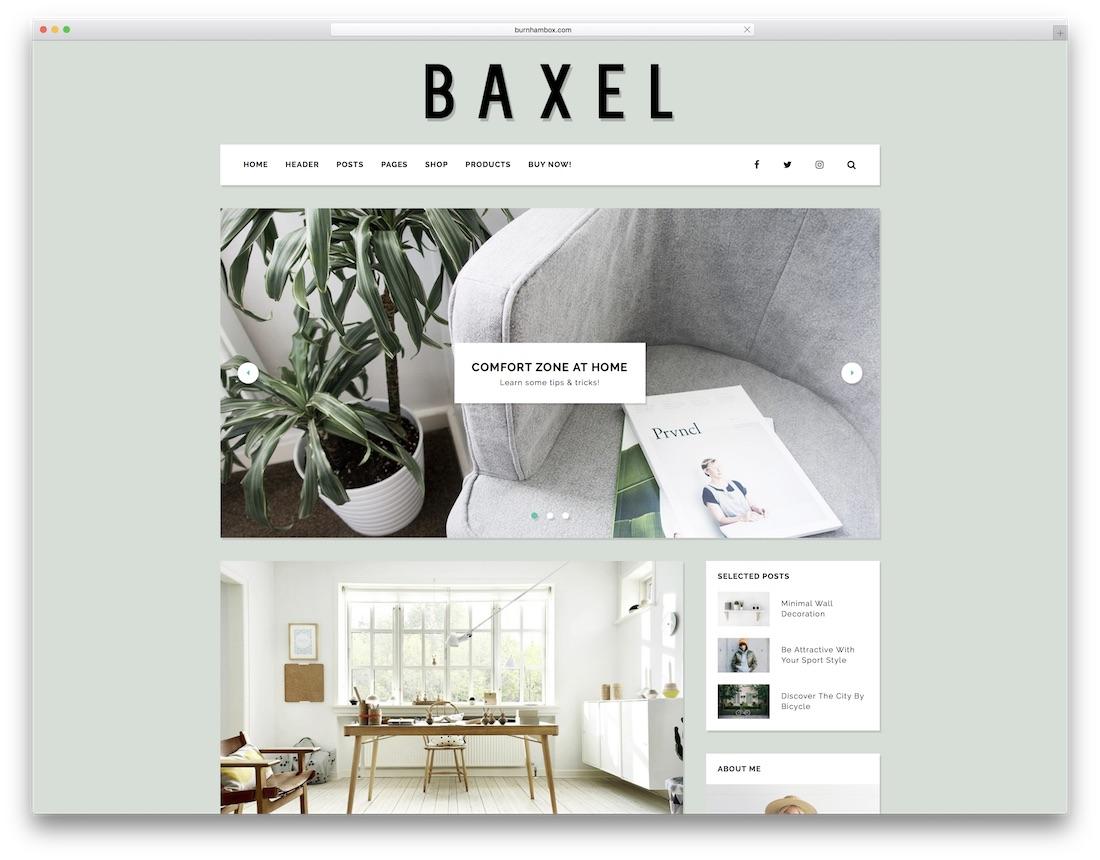 baxel cute wordpress theme