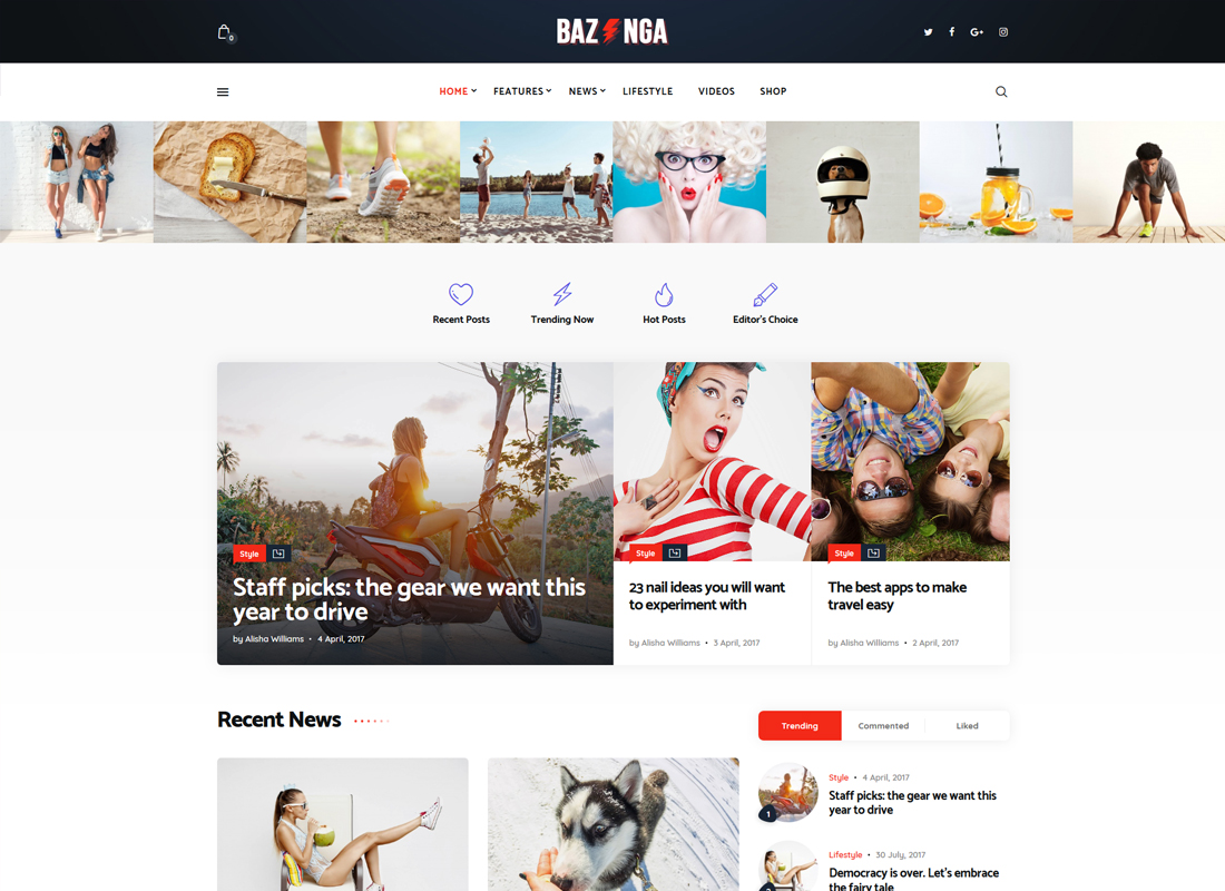 Bazinga | Magazine & Viral Blog WordPress Theme