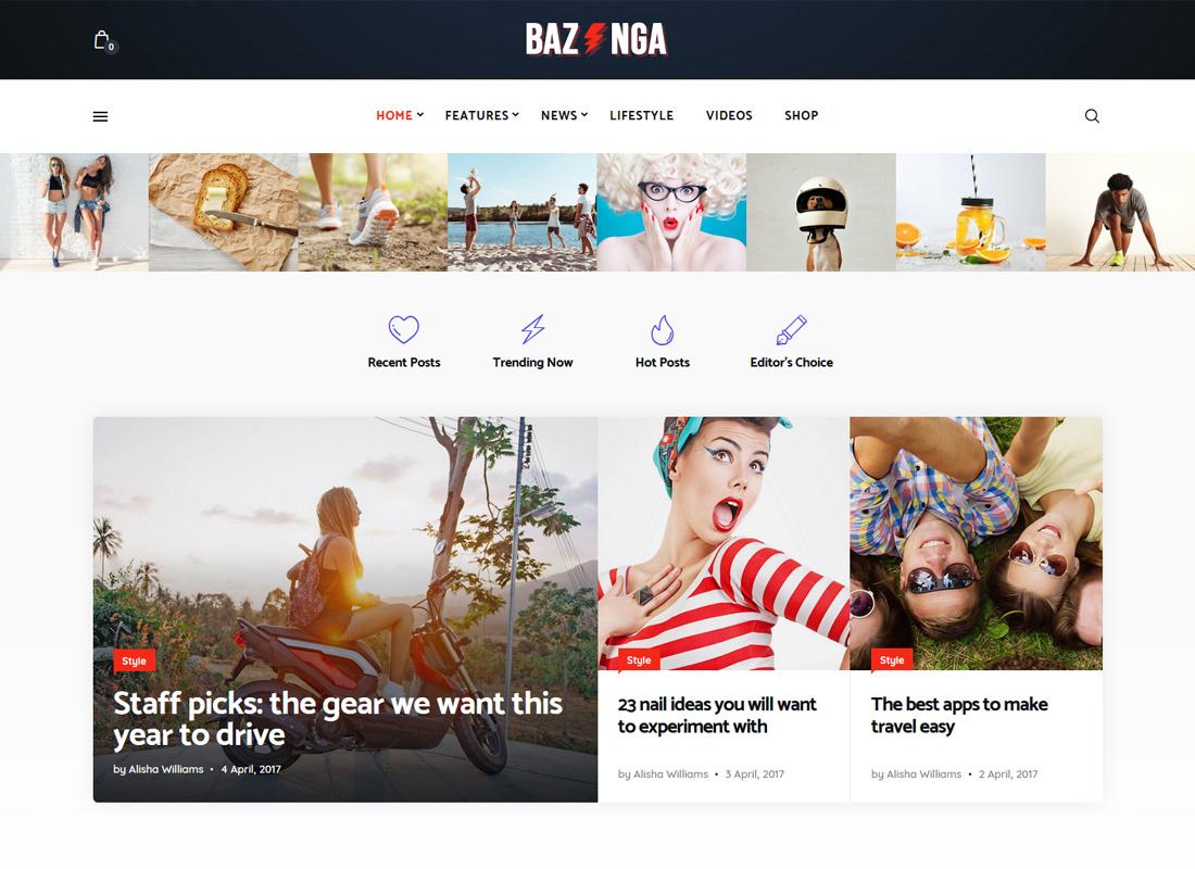Bazinga   Magazine & Viral Blog WordPress Theme