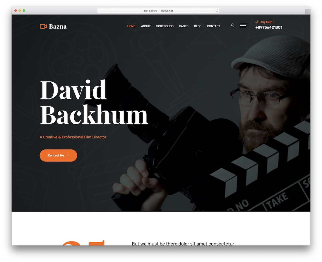 bazna actor website template