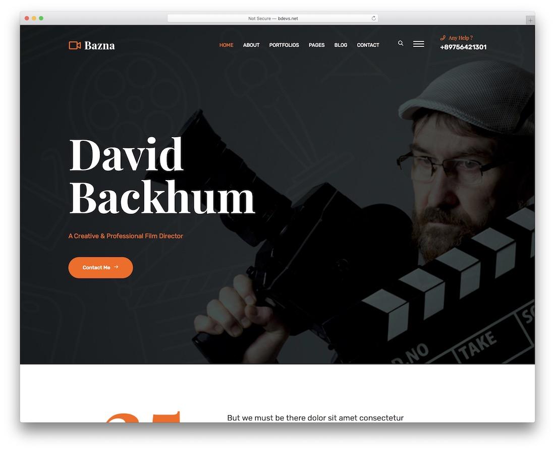 bazna videographer website template