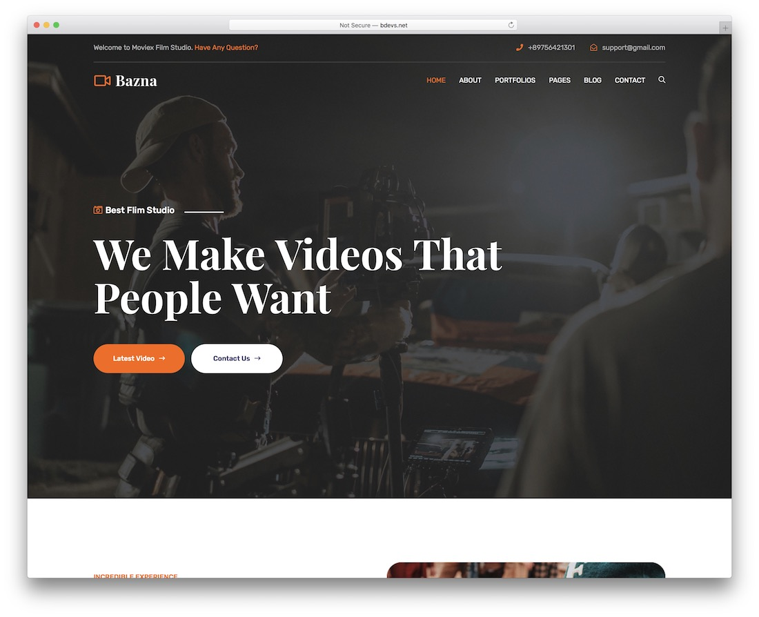bazna wordpress video theme