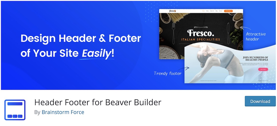 bb header footer wordpress plugin