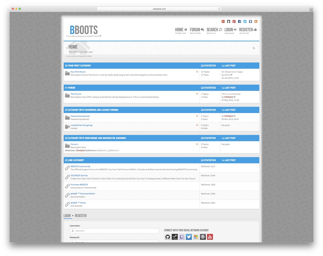 bboots gaming website template