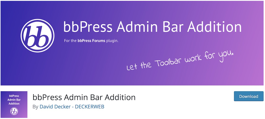 bbpress admin bar addition