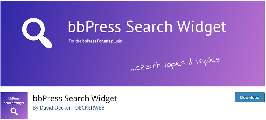 bbpress search widget
