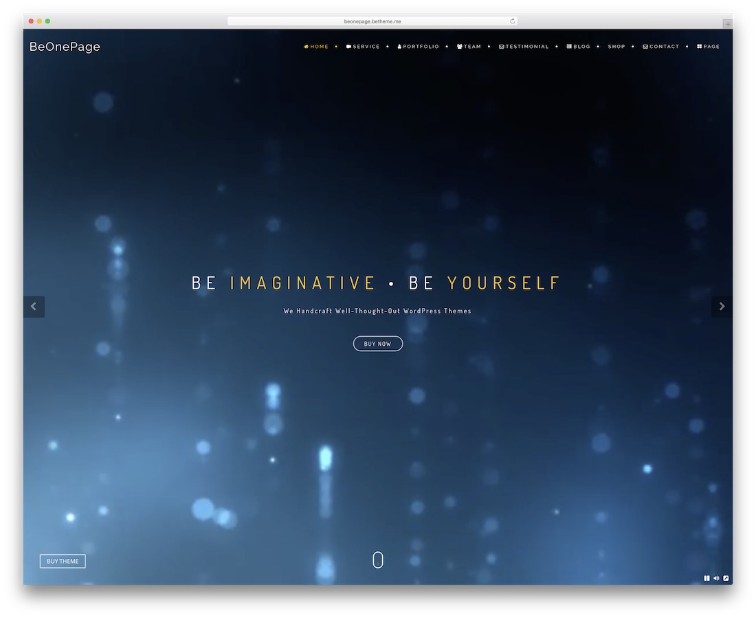 be one page website template