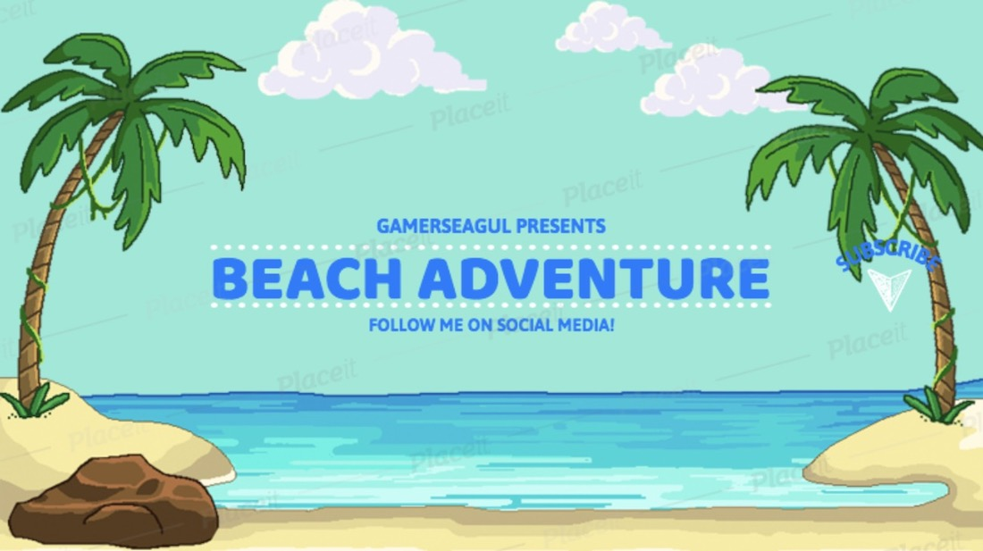 beach-themed youtube banner