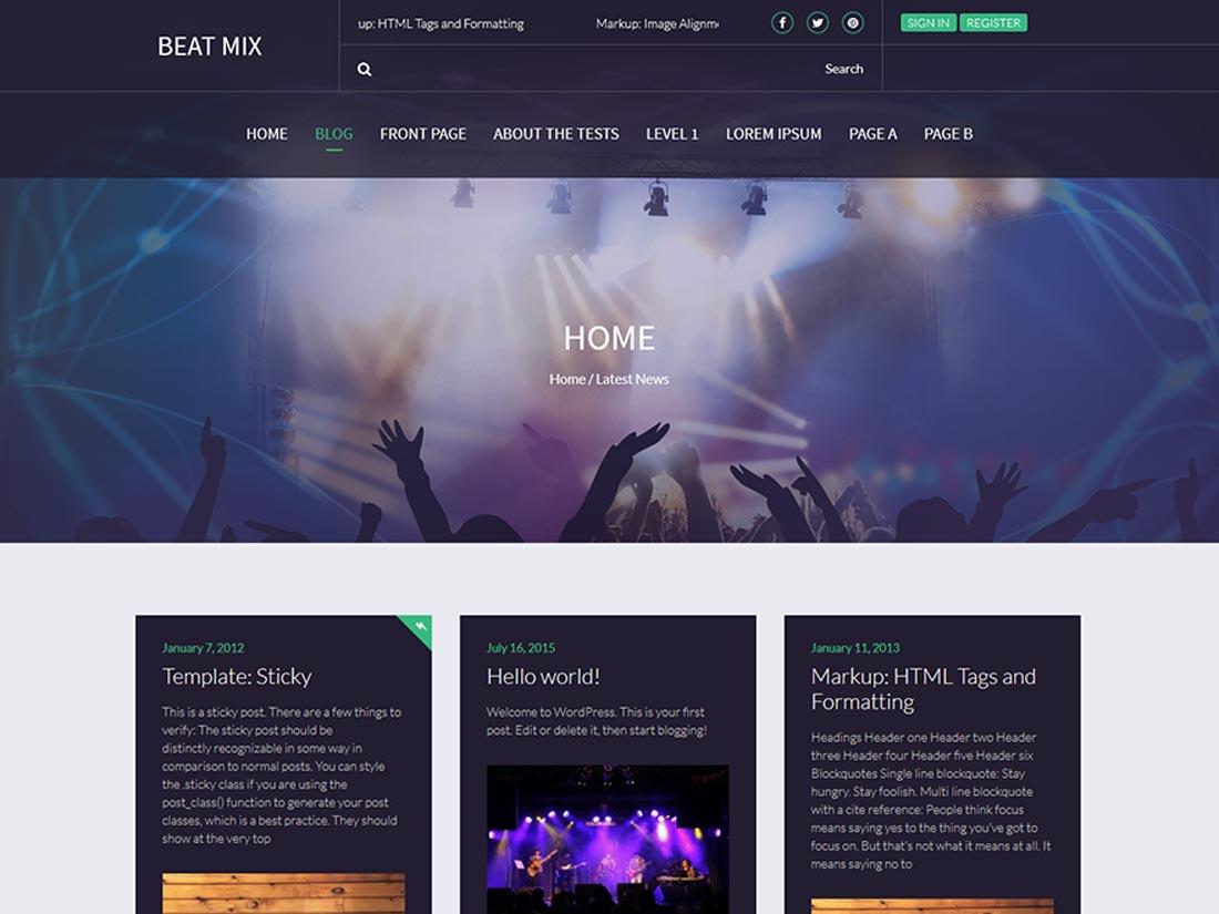 free band wordpress themes