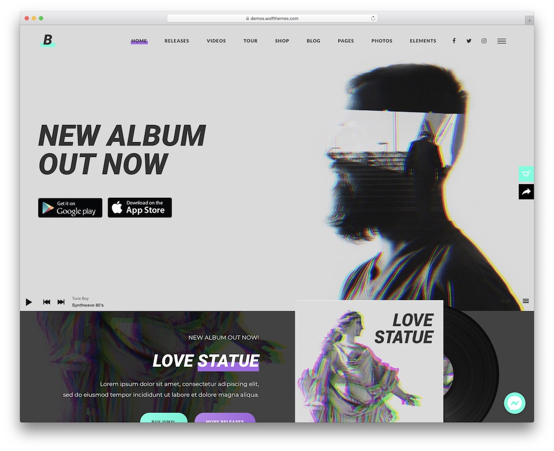 beatit musician website template