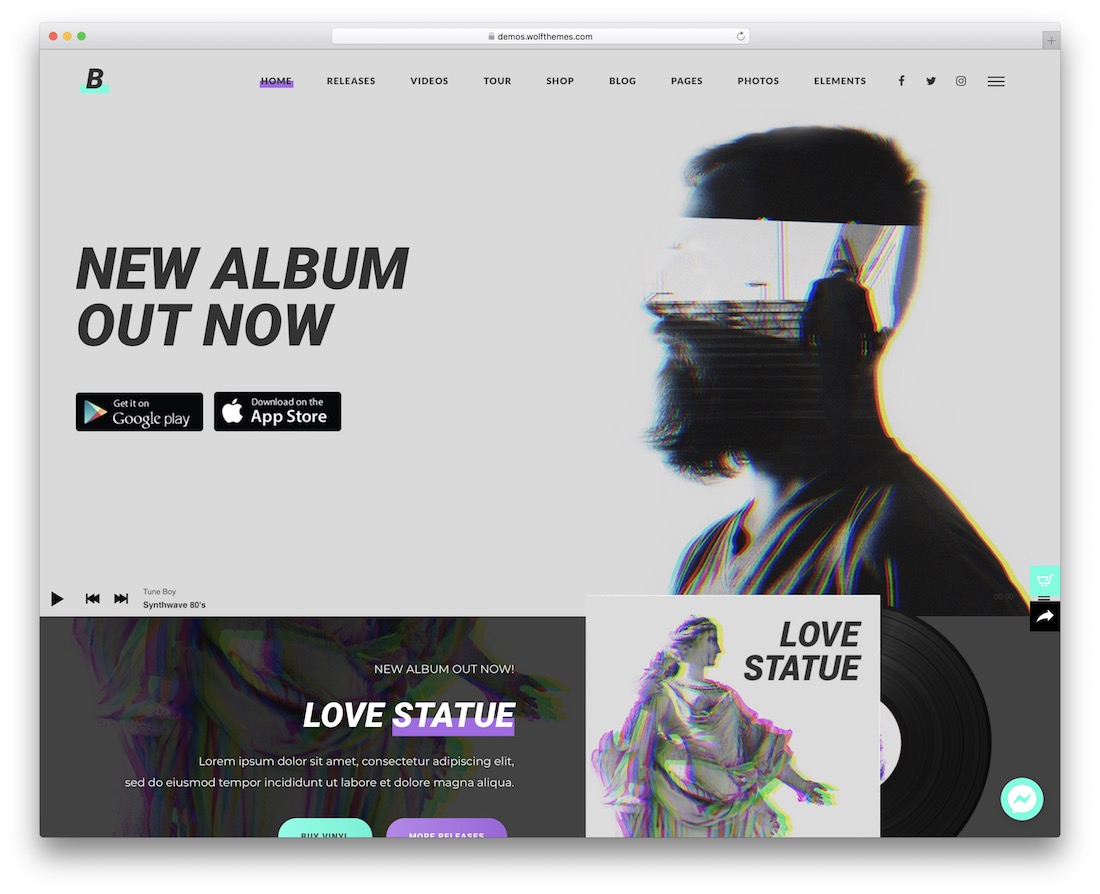 beatit wordpress theme for musicians