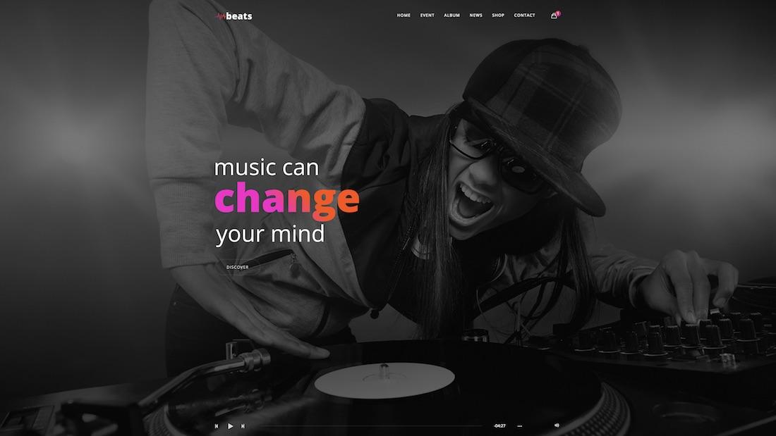 beats website template