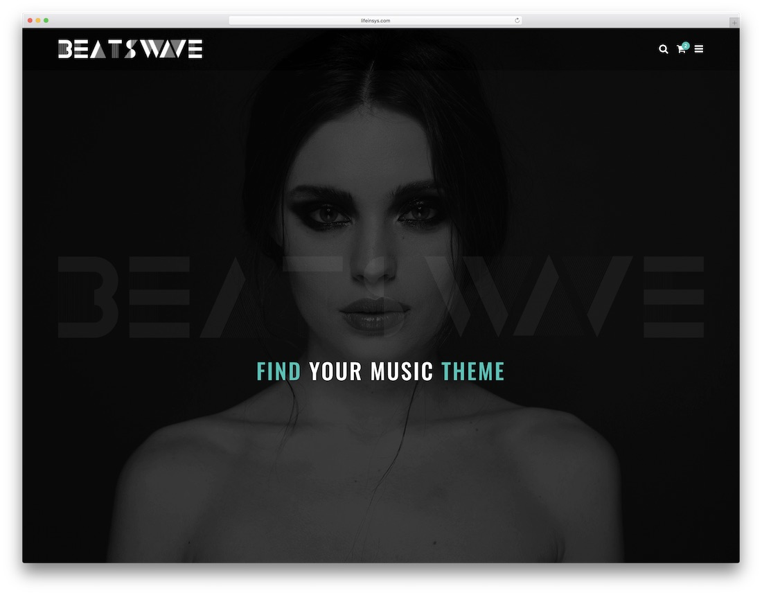 beatswave bootstrap music template