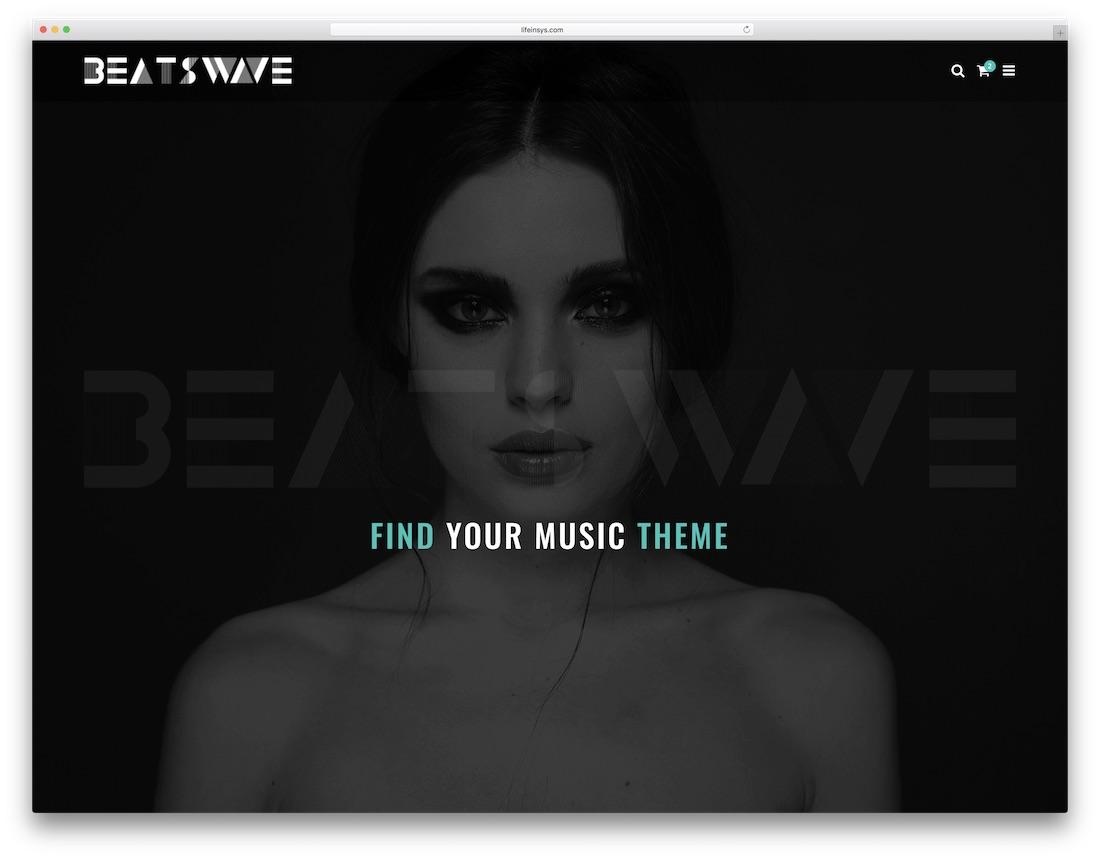 beatswave musician website template