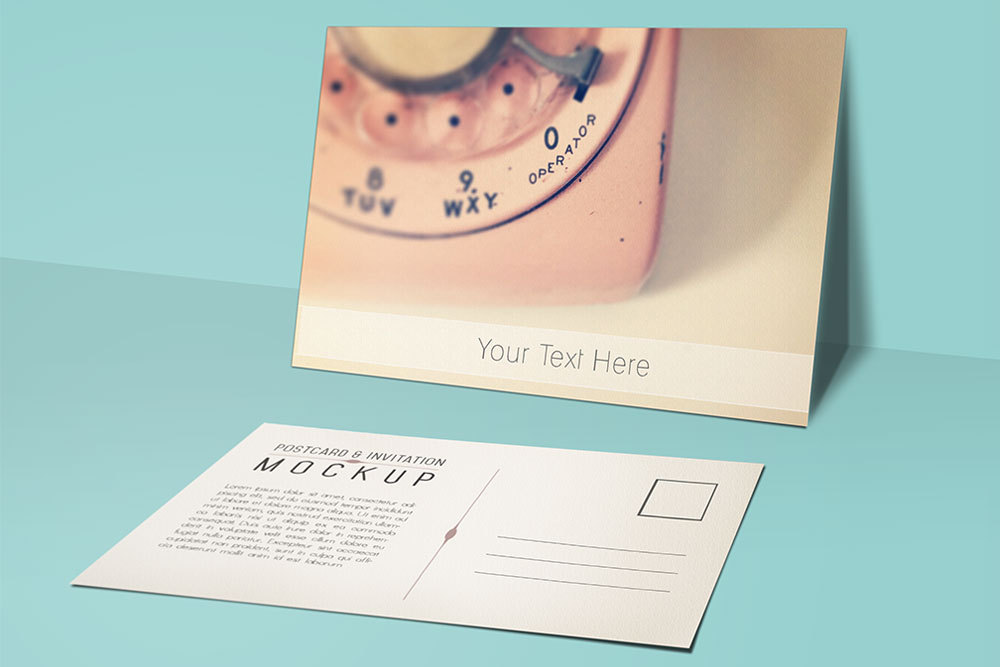 beautiful free postcard mockup