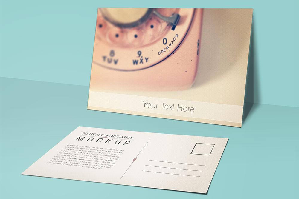beautiful free postcard mockup