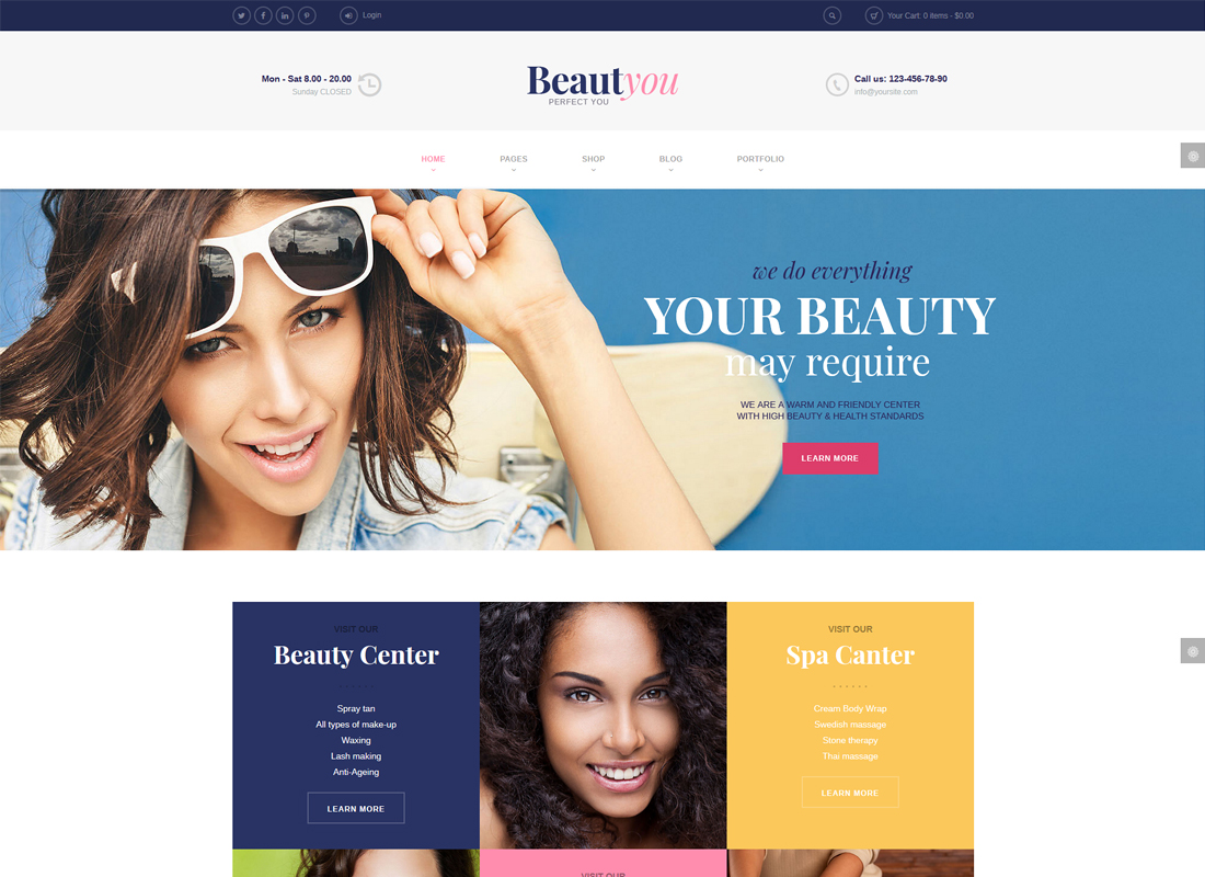 BeautYou | Beauty, Hair & Spa Salon WordPress Theme